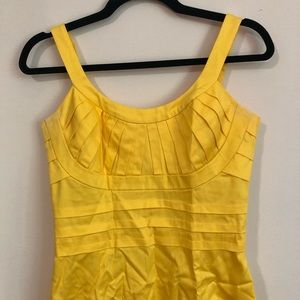 Yellow Calvin Klein fitted yellow dress